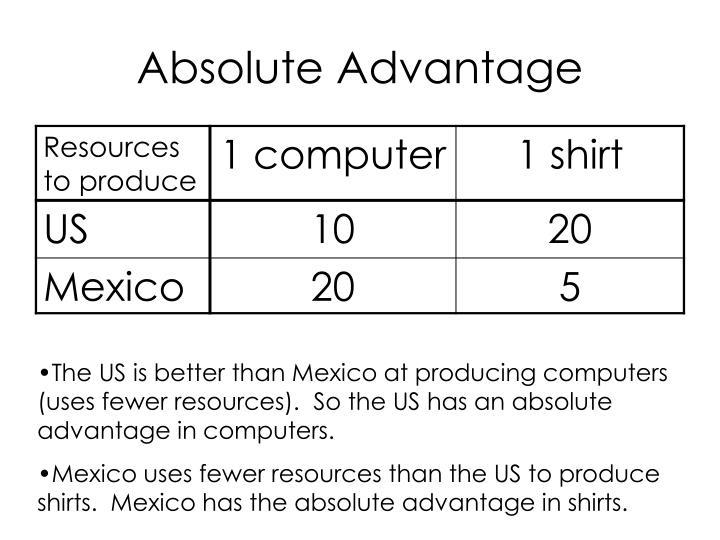absolute advantage and comparative advantage pdf