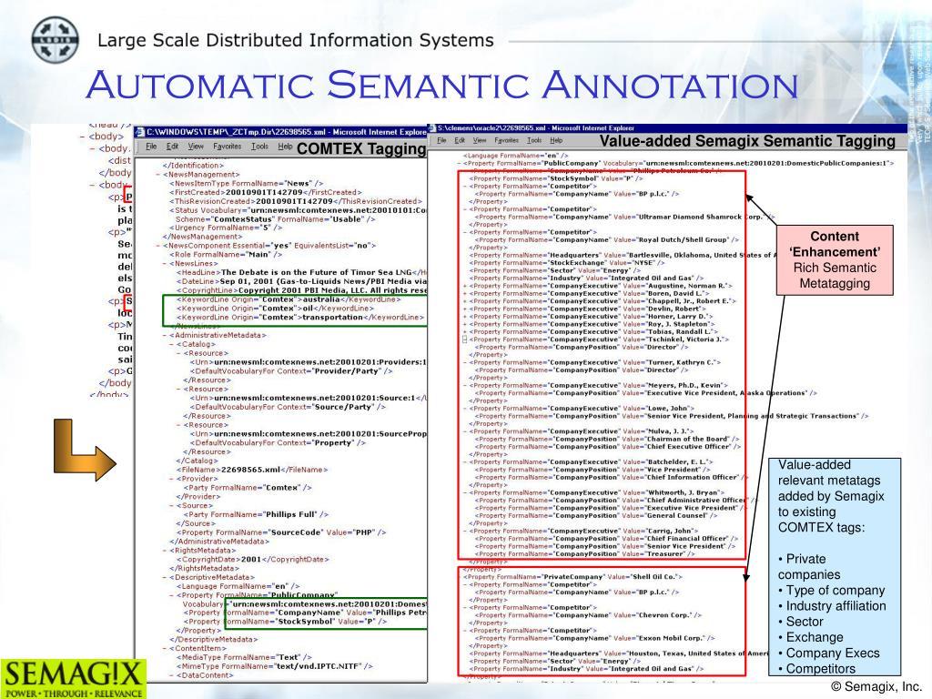 Value-added Semagix Semantic Tagging
