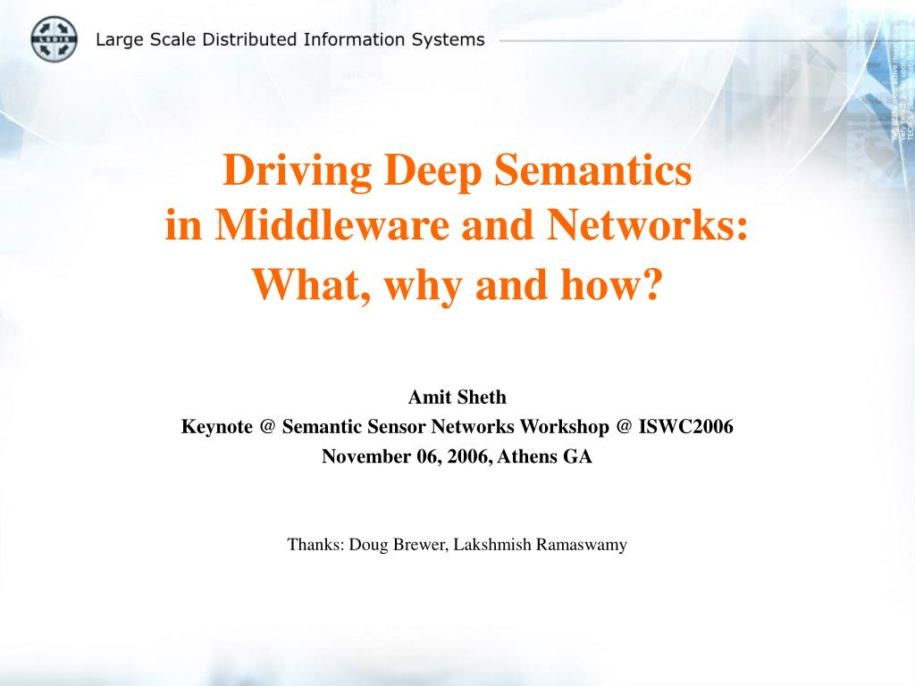 driving deep semantics in middleware and networks what why and how l.