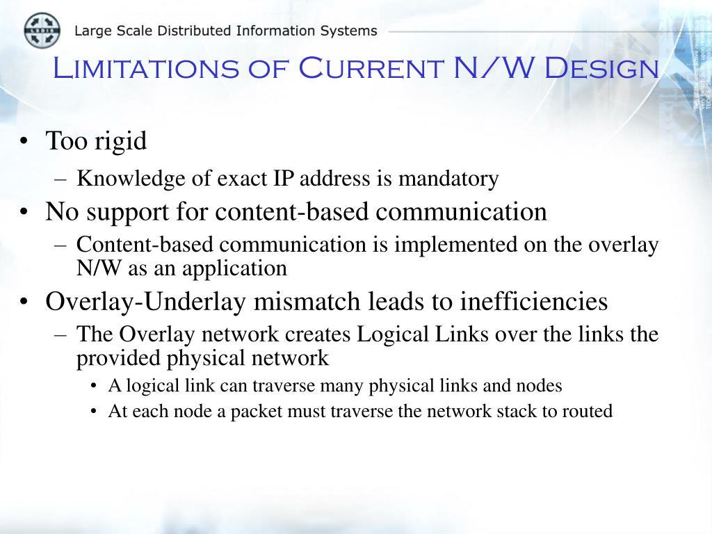Limitations of Current N/W Design