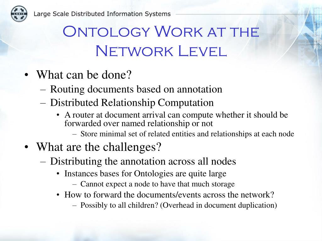 Ontology Work at the Network Level
