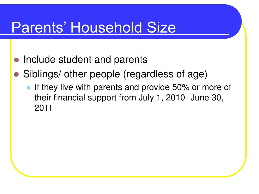 Parents' Household Size