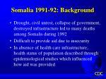 somalia 1991 92 background