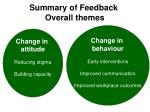summary of feedback overall themes