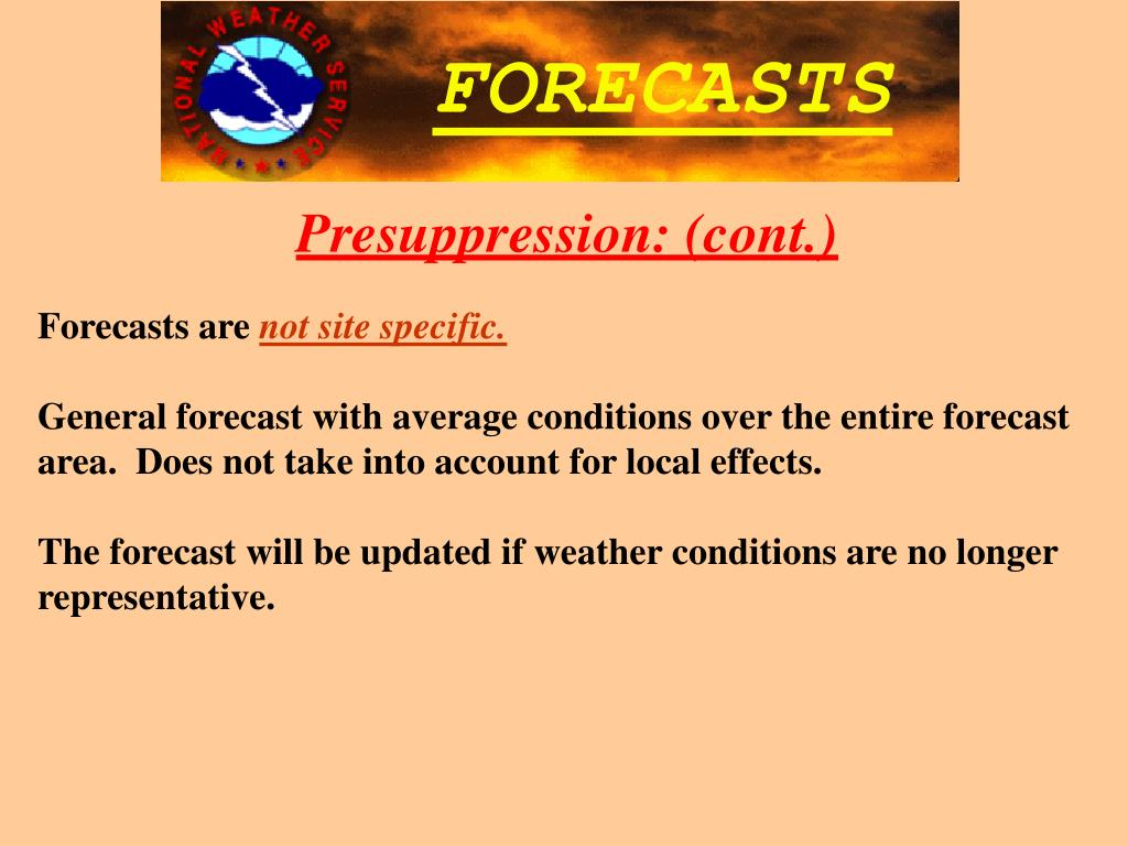 Forecasts are