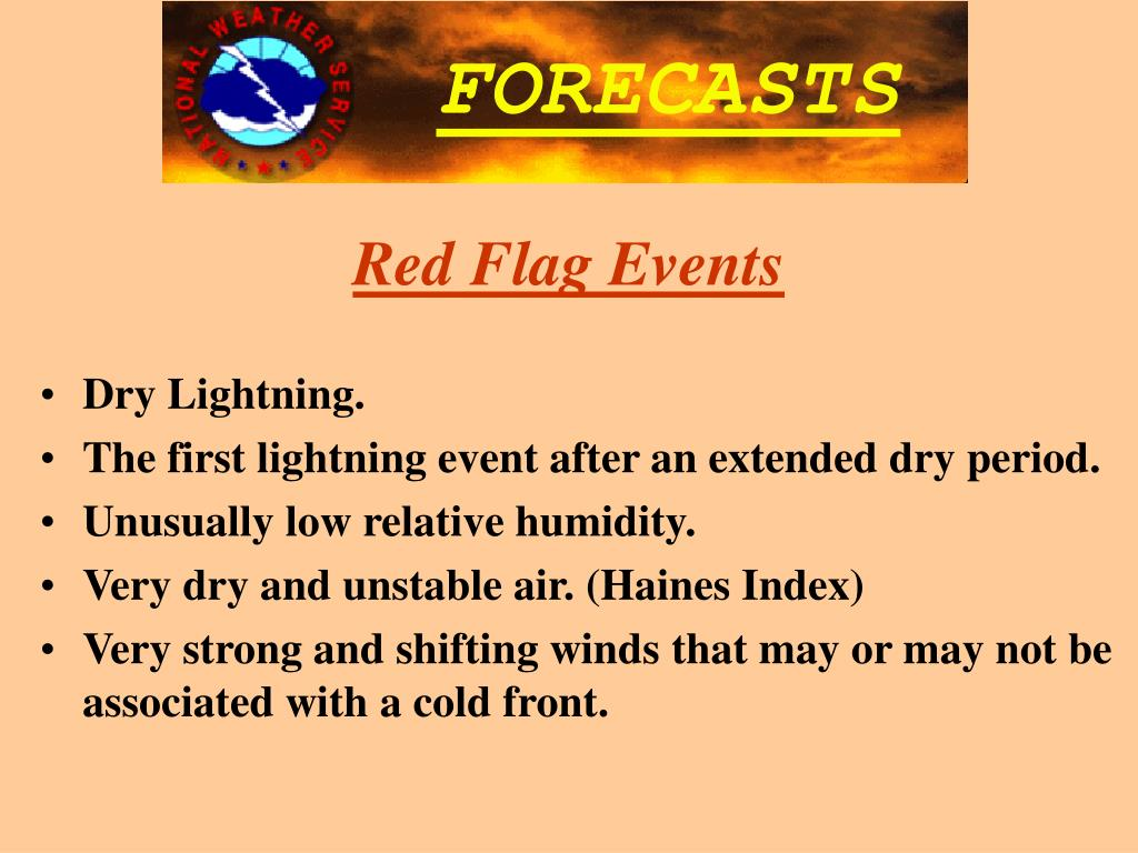 Red Flag Events