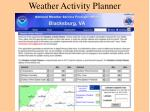 weather activity planner