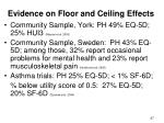 evidence on floor and ceiling effects