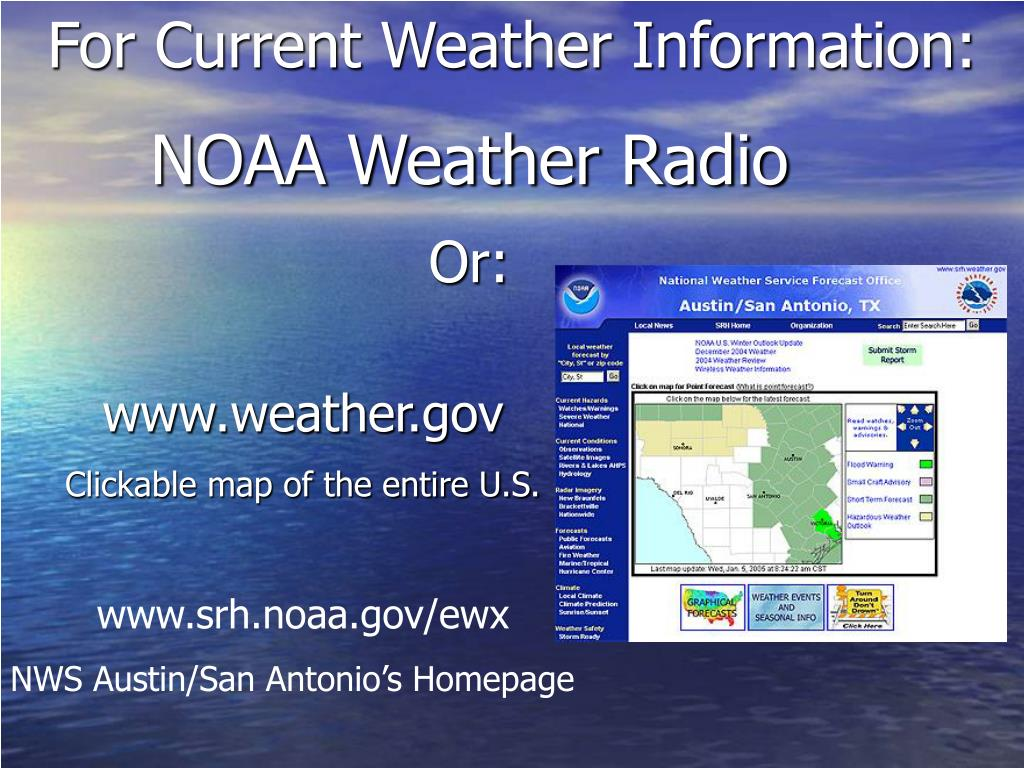 For Current Weather Information: