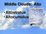 middle clouds alto
