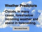 weather predictors