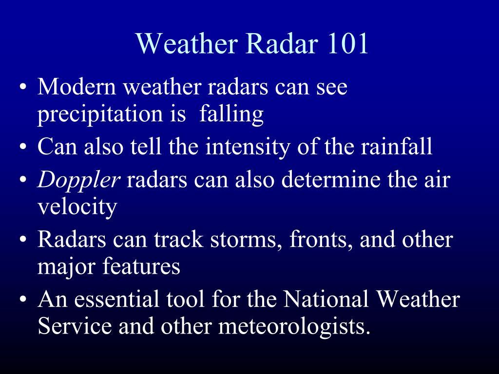 Weather Radar 101