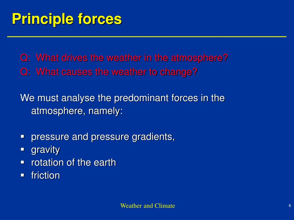 Q:  What drives the weather in the atmosphere?