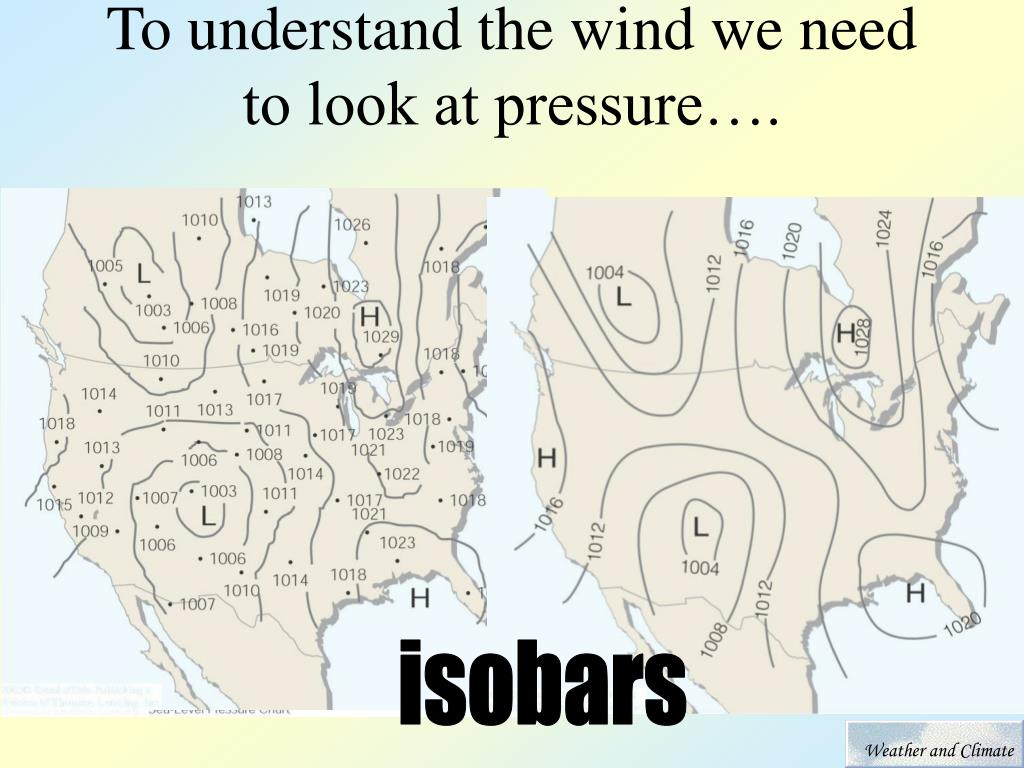 To understand the wind we need to look at pressure….