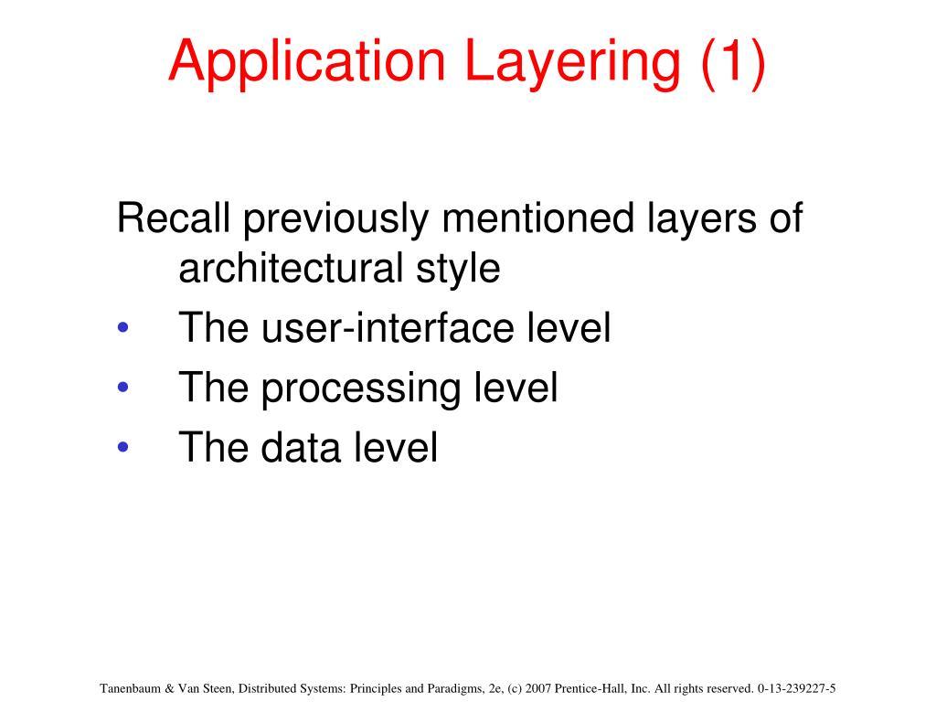 Application Layering (1)