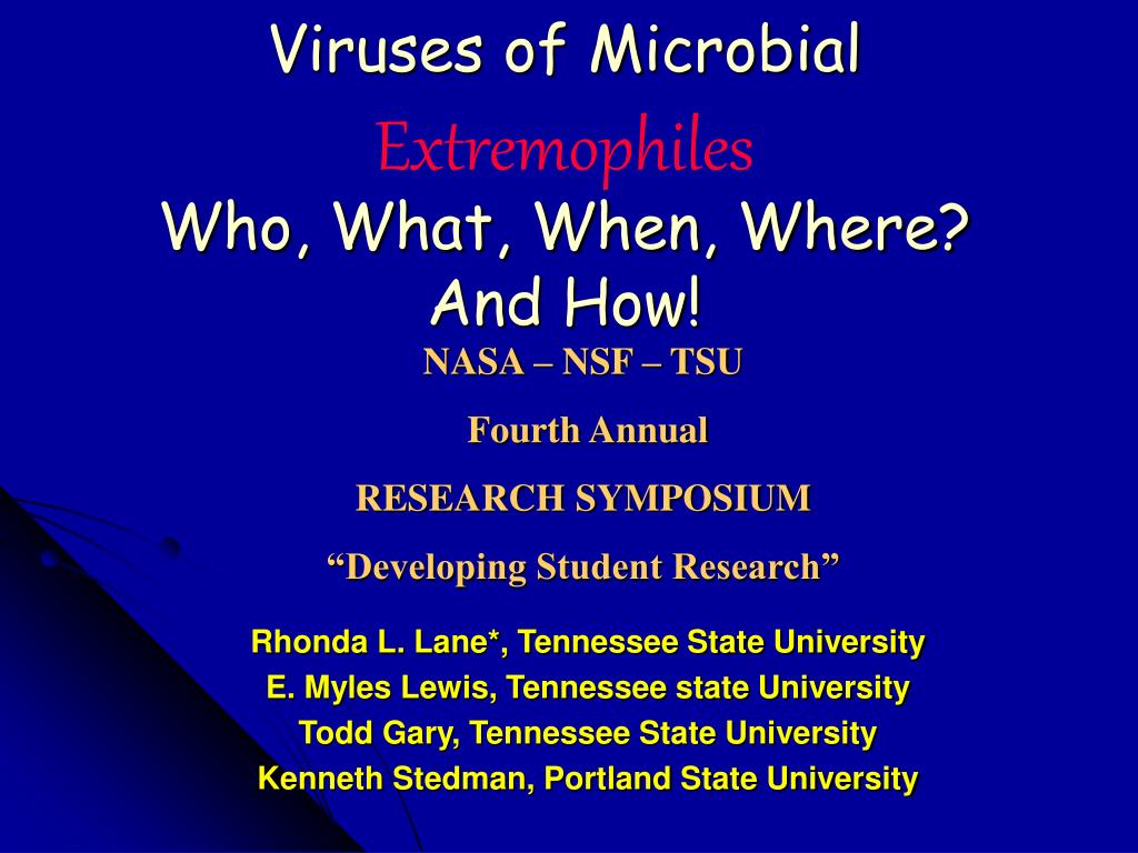 Ppt Viruses Of Microbial Extremophiles Who What When Where And How Powerpoint Presentation Id 769946