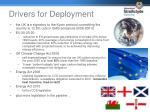 drivers for deployment