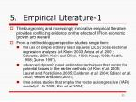 5 empirical literature 1