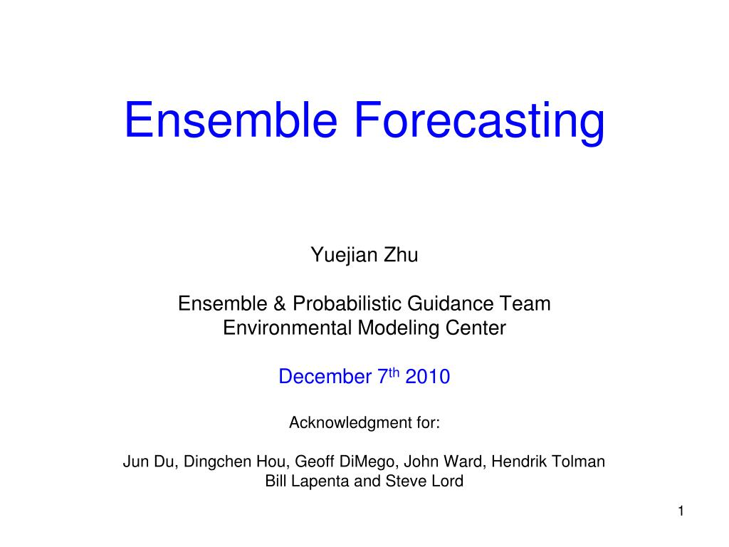ensemble forecasting l.