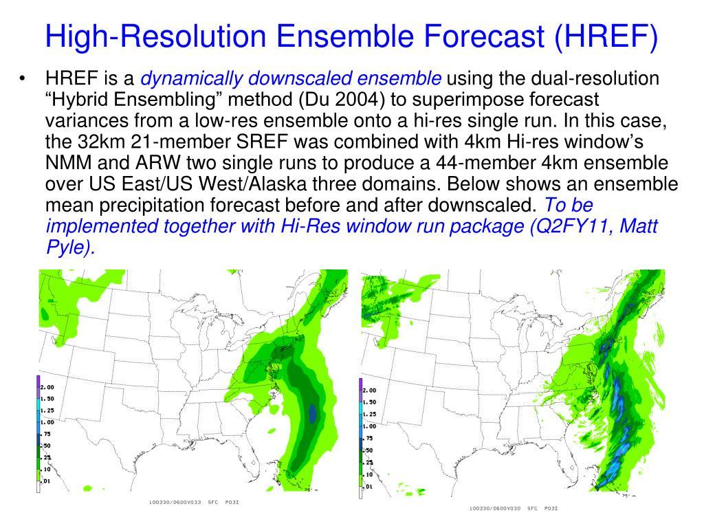 High-Resolution Ensemble Forecast (HREF)