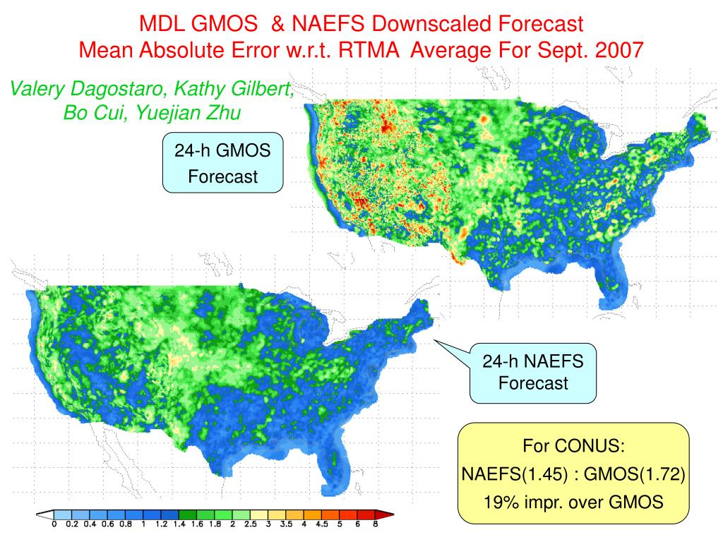 MDL GMOS  & NAEFS Downscaled Forecast