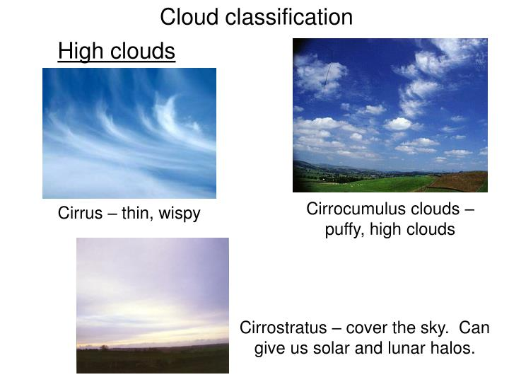 Cloud classification