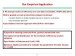 our empirical application