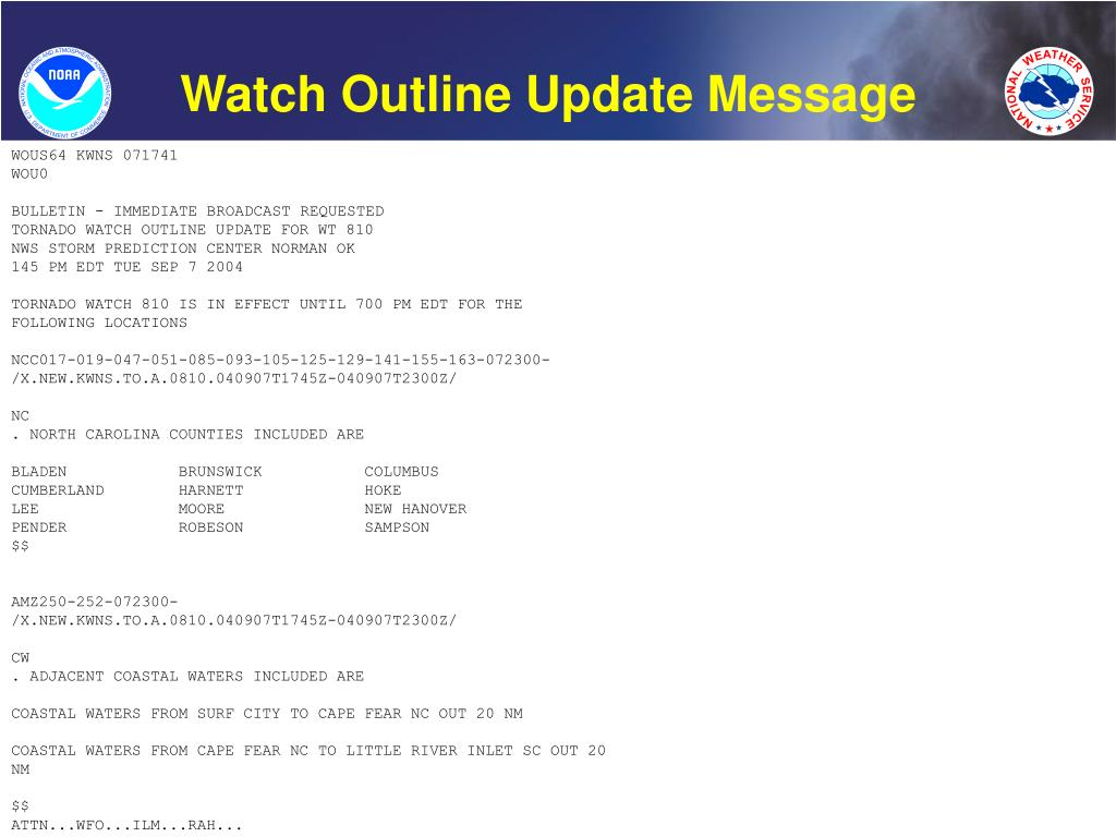 Watch Outline Update Message