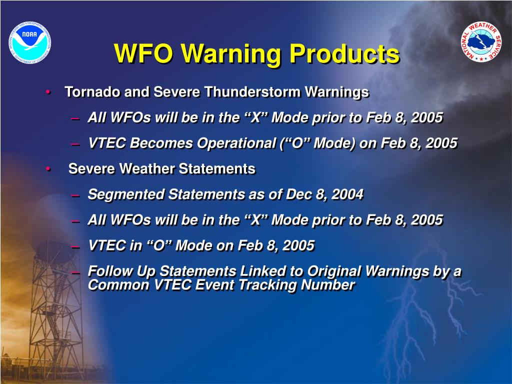 WFO Warning Products