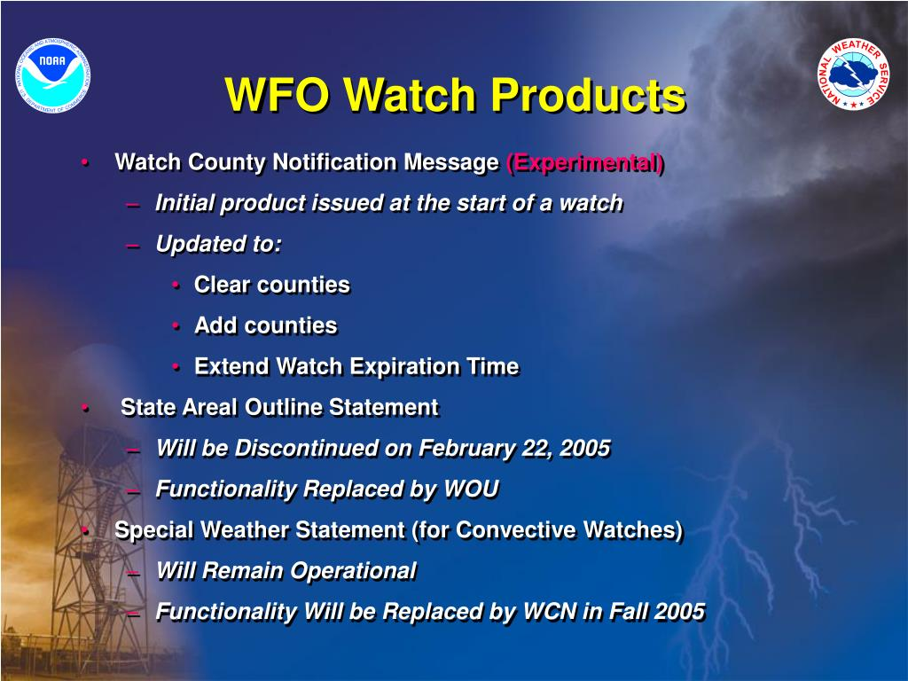 WFO Watch Products