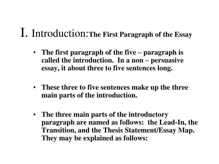 Spm English Essay I Introductionthe First Paragraph Of The Essay Persuasive Essay Papers also High School Persuasive Essay Topics Ppt  The Traditional Five  Paragraph Essay Powerpoint Presentation  Professional Academic Writing Service