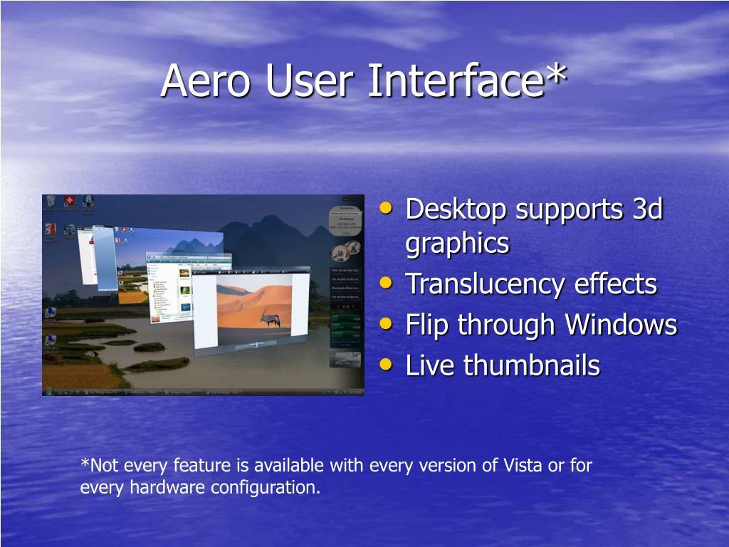 Aero User Interface*