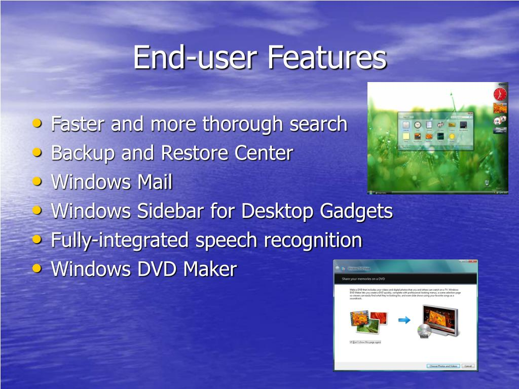 End-user Features