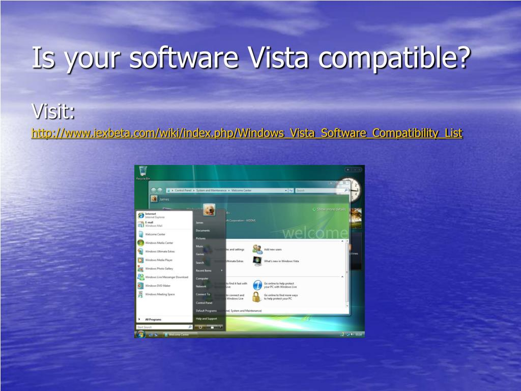 Is your software Vista compatible?