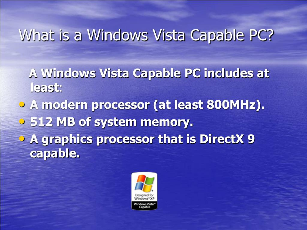 What is a Windows Vista Capable PC?