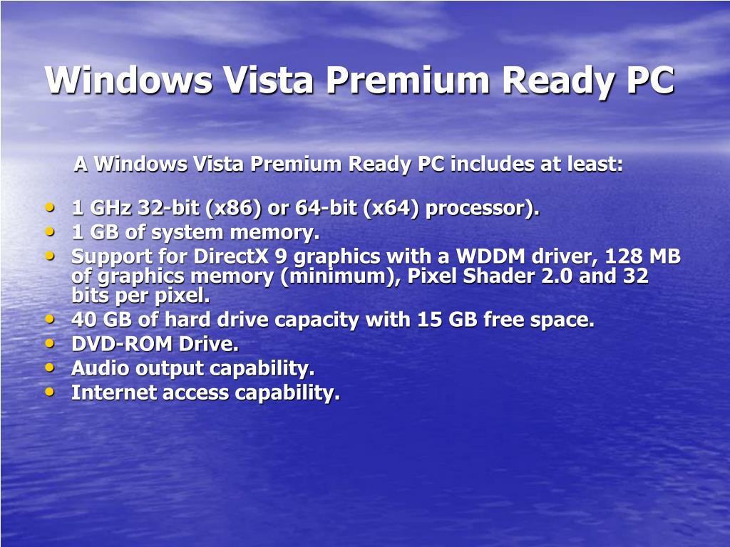 Windows Vista Premium Ready PC
