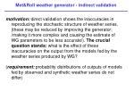 met roll weather generator indirect validation