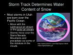 storm track determines water content of snow