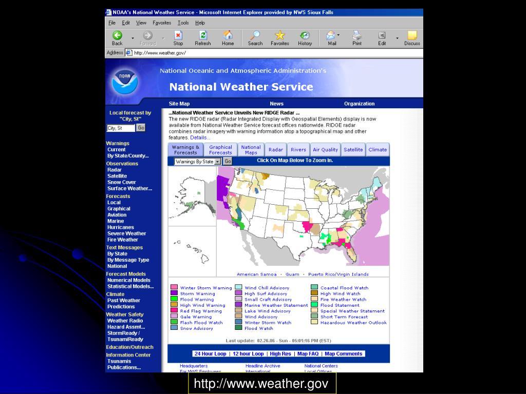 http://www.weather.gov