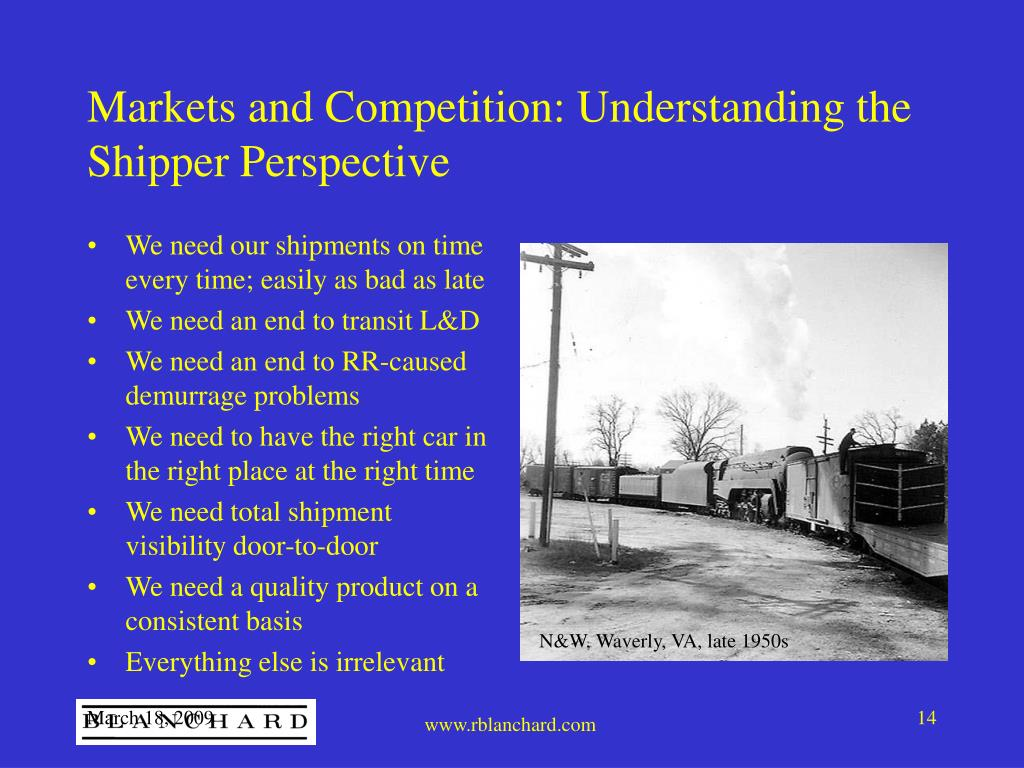 Markets and Competition: Understanding the Shipper Perspective