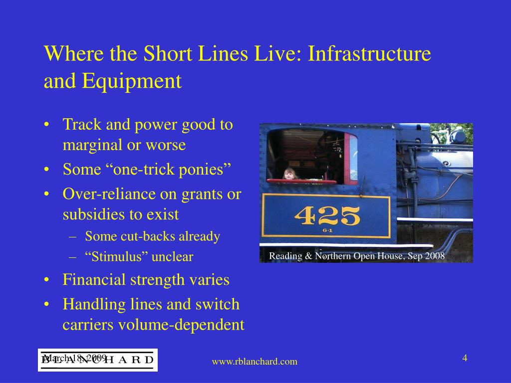Where the Short Lines Live: Infrastructure and Equipment