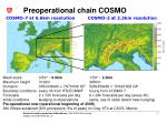 preoperational chain cosmo