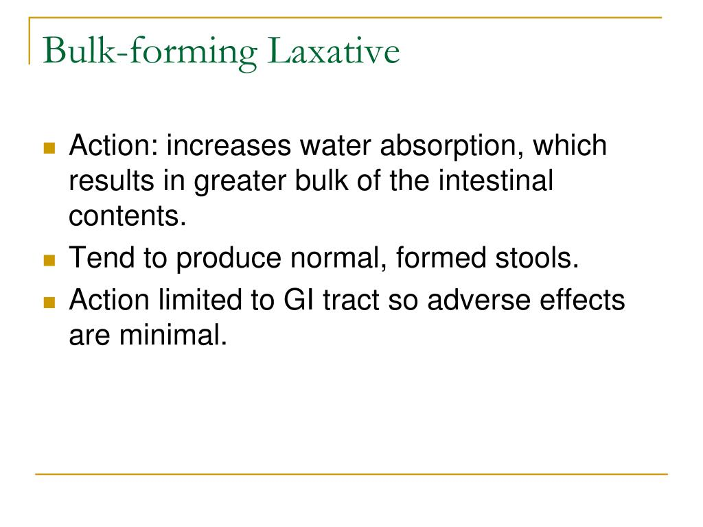 Bulk-forming Laxative