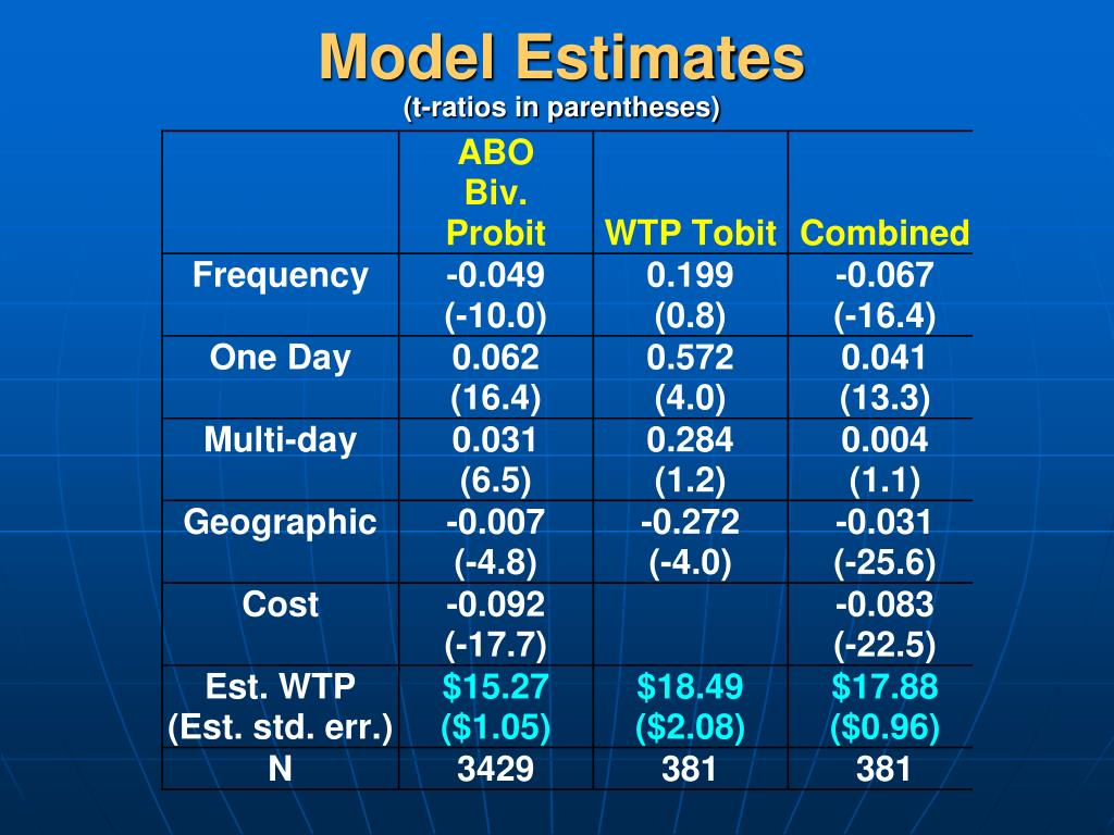 Model Estimates