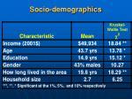 socio demographics