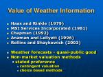 value of weather information