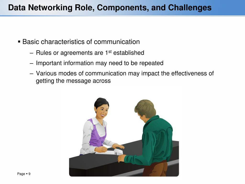 Data Networking Role, Components, and Challenges