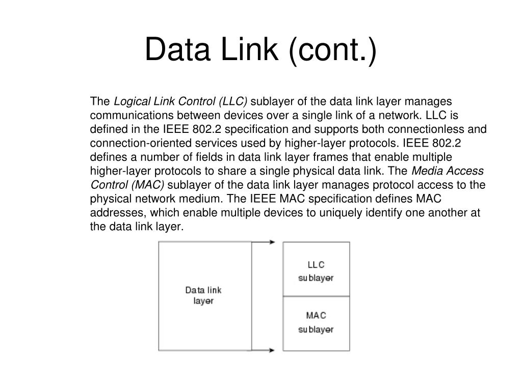 Data Link (cont.)
