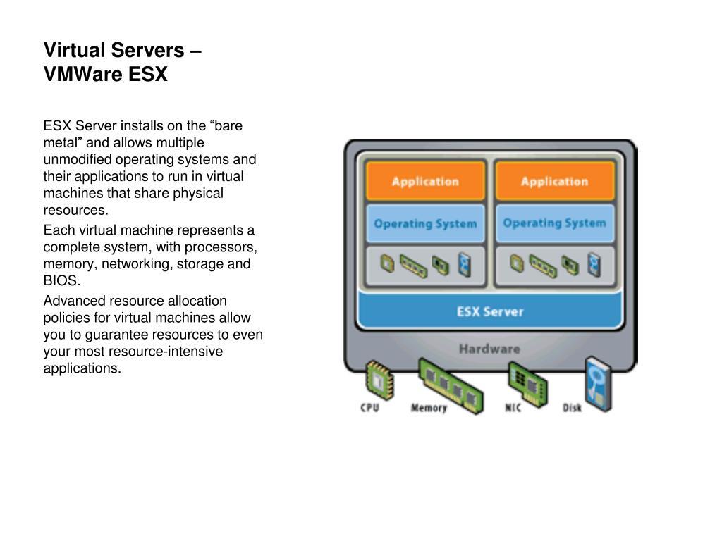 Virtual Servers – VMWare ESX