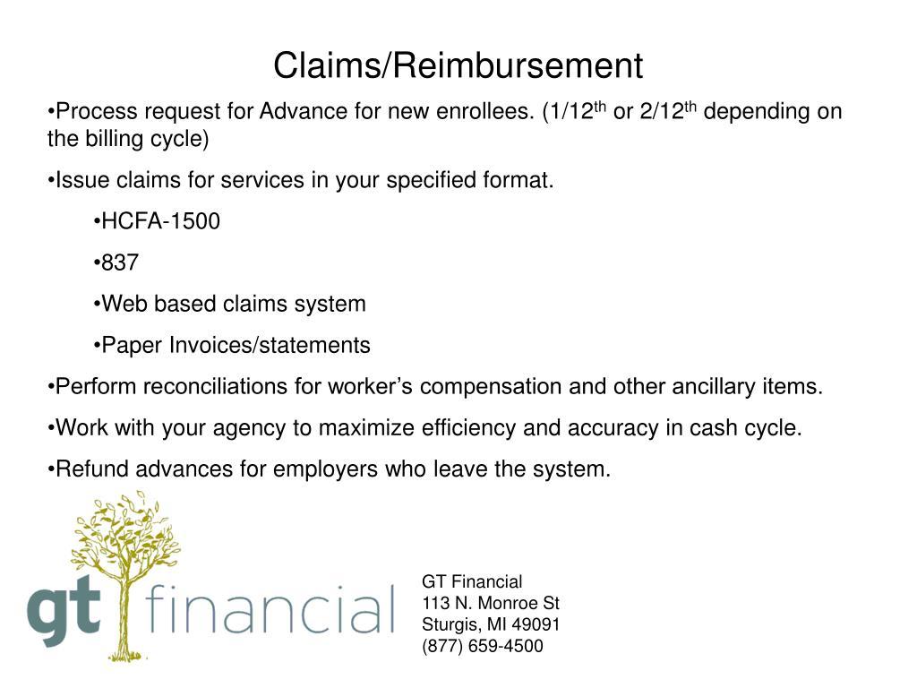 Claims/Reimbursement